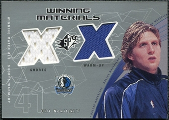 2002/03 Upper Deck SPx Winning Materials DNW Dirk Nowitzki Shorts Warm