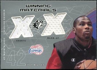 2002/03 Upper Deck SPx Winning Materials #EBW Elton Brand Shorts Warm