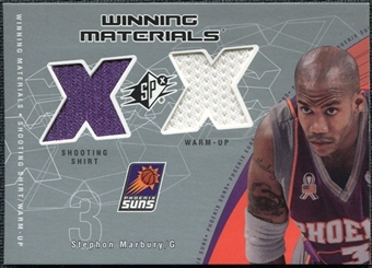 2002/03 Upper Deck SPx Winning Materials #SMW Stephon Marbury Shirt Warm