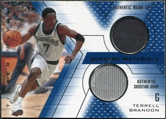 2001/02 Upper Deck SPx Winning Materials #TB Terrell Brandon WU/Shirt