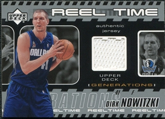 2002/03 Upper Deck Generations Reel Time Jersey #DNJ Dirk Nowitzki