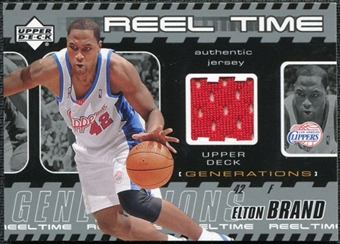 2002/03 Upper Deck Generations Reel Time Jersey #EBJ Elton Brand