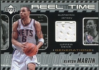 2002/03 Upper Deck Generations Reel Time Jersey #KMJ Kenyon Martin