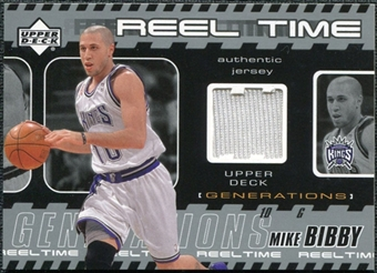 2002/03 Upper Deck Generations Reel Time Jersey #MBJ Mike Bibby