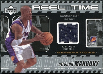2002/03 Upper Deck Generations Reel Time Jersey #SMJ Stephon Marbury