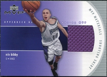 2002/03 Upper Deck Materials Shooting Shirt #MBS Mike Bibby