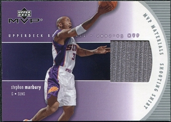 2002/03 Upper Deck Materials Shooting Shirt #SMS Stephon Marbury
