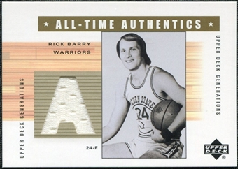 2002/03 Upper Deck Generations All-Time Authentics #RBA Rick Barry