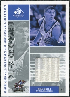 2002/03 Upper Deck SP Game Used All-Star Apparel #MMAS Mike Miller