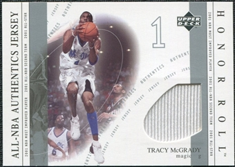 2001/02 Upper Deck Honor Roll All-NBA Authentic Jerseys #3 Tracy McGrady