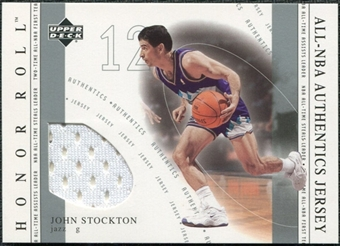 2001/02 Upper Deck Honor Roll All-NBA Authentic Jerseys #8 John Stockton
