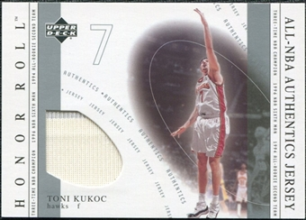 2001/02 Upper Deck Honor Roll All-NBA Authentic Jerseys #16 Toni Kukoc