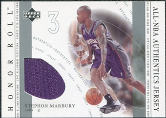 2001/02 Upper Deck Honor Roll All-NBA Authentic Jerseys #17 Stephon Marbury