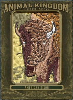 2011 Upper Deck Goodwin Champions Animal Kingdom Patches #AK60 American Bison NT