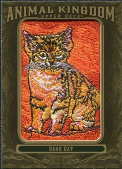 2011 Upper Deck Goodwin Champions Animal Kingdom Patches #AK62 Sand Cat NT