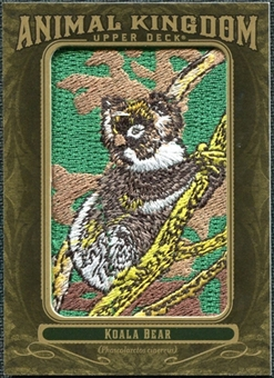 2011 Upper Deck Goodwin Champions Animal Kingdom Patches #AK3 Koala Bear LC