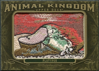 2011 Upper Deck Goodwin Champions Animal Kingdom Patches #AK4 Platypus LC