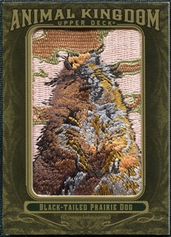 2011 Upper Deck Goodwin Champions Animal Kingdom Patches #AK15 Black-Tailed Prairie Dog LC