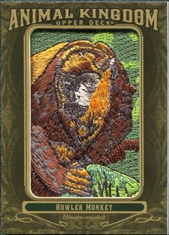 2011 Upper Deck Goodwin Champions Animal Kingdom Patches #AK37 Howler Monkey LC