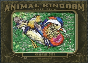 2011 Upper Deck Goodwin Champions Animal Kingdom Patches #AK46 Mandarin Duck LC