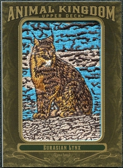 2011 Upper Deck Goodwin Champions Animal Kingdom Patches #AK54 Eurasian Lynx LC