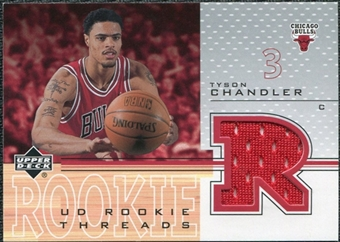 2001/02 Upper Deck Rookie Threads #TCT Tyson Chandler