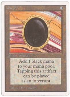 Magic the Gathering Unlimited Single Mox Jet - SLIGHT PLAY (SP)