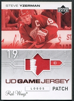 2004/05 Upper Deck Patches #GJPLSY Steve Yzerman SP /8 Logos