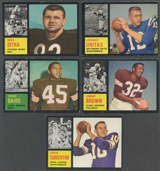1962 Topps Football Complete Set (EX+)