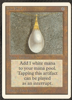 Magic the Gathering Unlimited Single Mox Pearl - SLIGHT PLAY (SP)