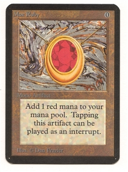 Magic the Gathering Alpha Single Mox Ruby - NEAR MINT (NM)