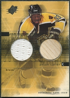 2000/01 Upper Deck SPx Winning Materials #AC Anson Carter SP Jersey Stick