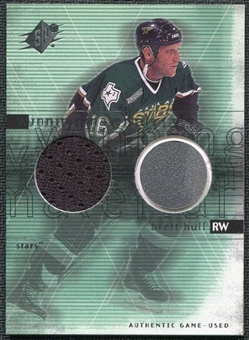 2000/01 Upper Deck SPx Winning Materials #BH Brett Hull SP Jersey Stick
