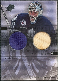 2000/01 Upper Deck SPx Winning Materials #CJ Curtis Joseph Jersey Stick