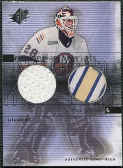 2000/01 Upper Deck SPx Winning Materials #FP Felix Potvin Jersey Stick