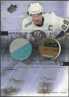 2000/01 Upper Deck SPx Winning Materials #KJ Kenny Jonsson Jersey Stick