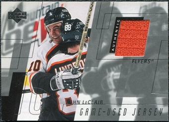 2000/01 Upper Deck Game Jerseys #JL John LeClair Series 1