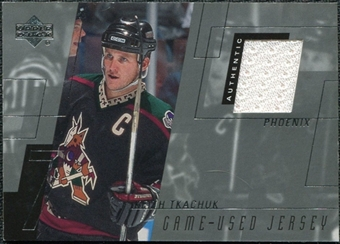 2000/01 Upper Deck Game Jerseys #KT Keith Tkachuk Series 1