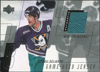 2000/01 Upper Deck Game Jerseys #TS Teemu Selanne Series 1