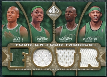 2009/10 SP Game Used 4 on 4 Fabrics Allen Garnett Pierce Giddens Speights Miller Iguodala Brand 62/65