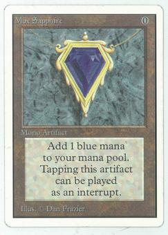 Magic the Gathering Unlimited Single Mox Sapphire - SLIGHT PLAY (SP+)