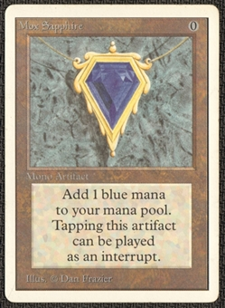 Magic the Gathering Unlimited Single Mox Sapphire LIGHT PLAY (NM)