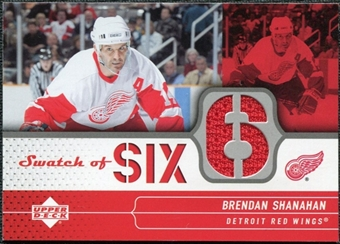 2004/05 Upper Deck Swatch of Six #SSBS Brendan Shanahan