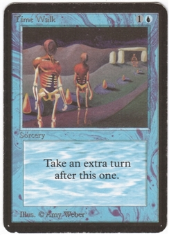 Magic the Gathering Alpha Single Time Walk LIGHT PLAY (NM)