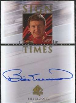 2000 Upper Deck SP Authentic Sign of the Times #BE Bill Elliott Autograph