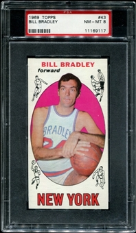 1969/70 Topps Basketball #43 Bill Bradley Rookie PSA 8 (NM-MT) *9117