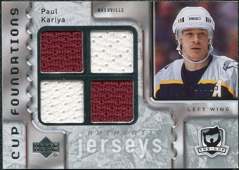 2006/07 Upper Deck The Cup Foundations #CQPK Paul Kariya /25
