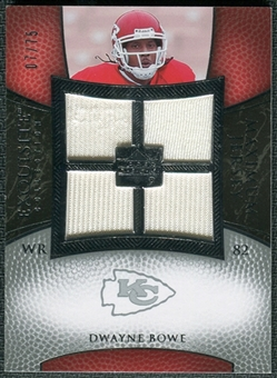2007 Upper Deck Exquisite Collection Maximum Jersey Silver #BO Dwayne Bowe /75