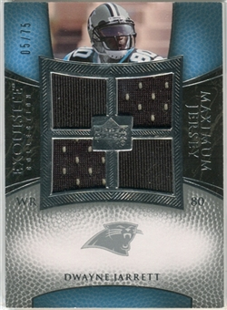 2007 Upper Deck Exquisite Collection Maximum Jersey Silver #DJ Dwayne Jarrett /75