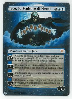 Magic the Gathering Worldwake ITALIAN Single Jace, the Mind Sculptor ALTERED - SLIGHT PLAY (SP)